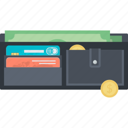 finance, flat design, methods, money, payment, shopping, wallet icon