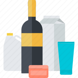 e-commerce, flat design, groceries, products, sale, shopping icon