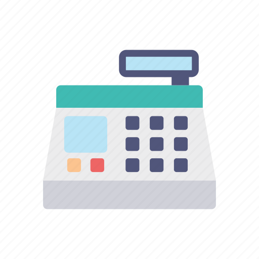 cash, cashier, counter, pay, register, shopping icon