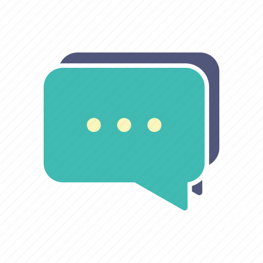 assistance, chat, comment, shopping icon