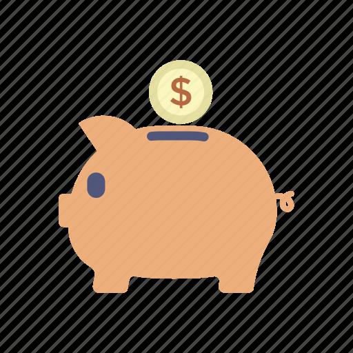 cash, coin, pennywise, piggy bank, save money, shopping icon