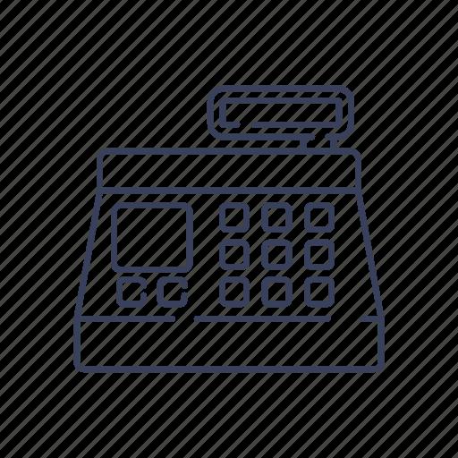 cash, cashier, commerce, machine, register, shopping icon