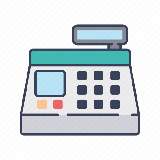 cash, cashier, machine, payment, register, shopping icon