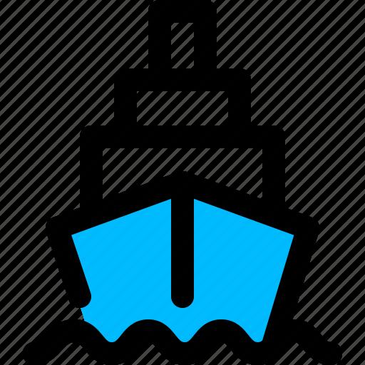 cargo, container, logistics, ship icon