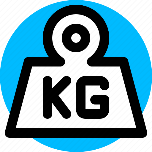 kg, kilogram, scale, weight icon
