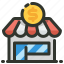 dollar, shop, store icon