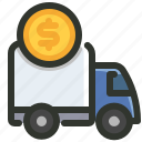 cost, delivery, import, rate, shipping icon