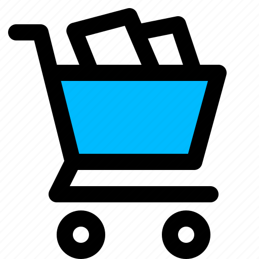 buy, cart, full, groceries, shopping icon