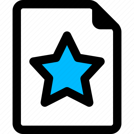 document, list, star, wish icon