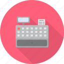 cashier, counter, machine, paying, retail, service, shopping icon