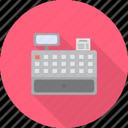cashier, counter, machine, paying, retail, service, shopping icon