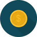 business, coin, e-commerce, earning, money, payment, shopping icon