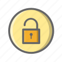business, filled, lock, shopping icon