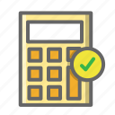 calculator, cart, ecommerce, filled, shop, shopping icon