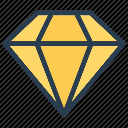 diamond, finance, jewelry, quality icon