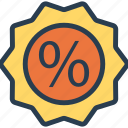 badge, discount, label, tag icon