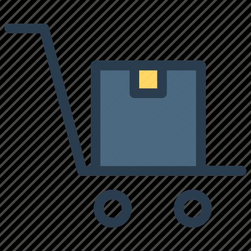 box, dolly, handtruck, trolley icon