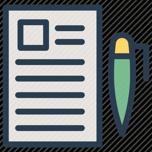document, edit, notes, write icon