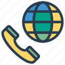 call, international, phone, support icon
