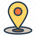 location, map, pin, pointer