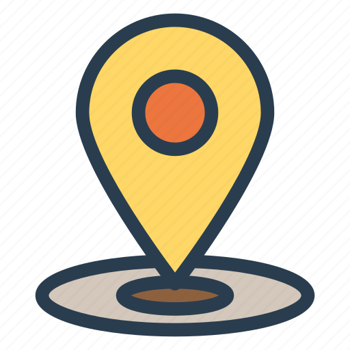 location, map, pin, pointer icon
