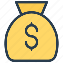 bag, cash, dollar, money icon