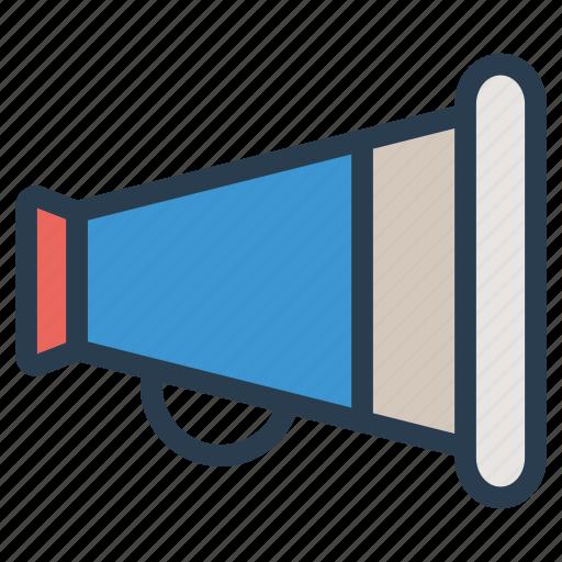 advertisement, announcement, megaphone, speaker icon