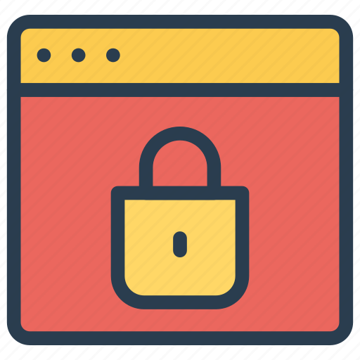 browser, internet, security, webpage icon