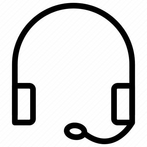 headphone, help, service, support icon
