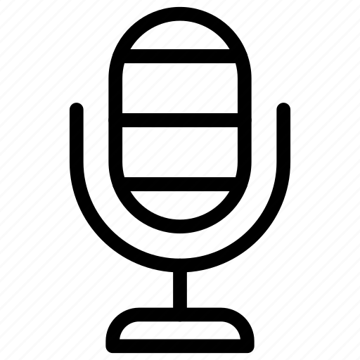 mic, microphone, mike, speaker icon