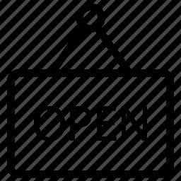 board, label, open, tag icon