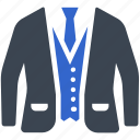 fashion, suit, blazer, uniform, men clothing, clothes icon