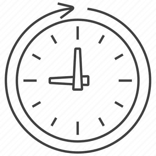 calendar, clock, procedure, process, processing, time, watch icon