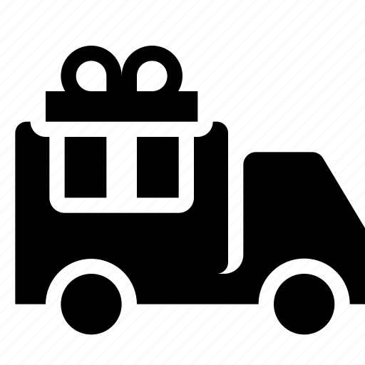 delivery, gift, shipping, van, vehicle icon