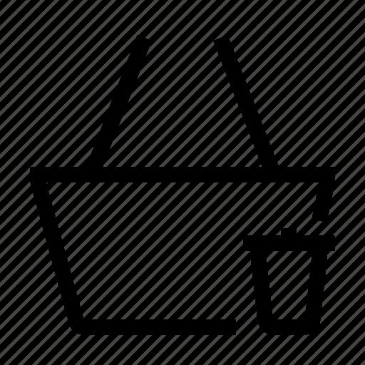 basket, buy, cart, delete, remove, shop, shopping icon