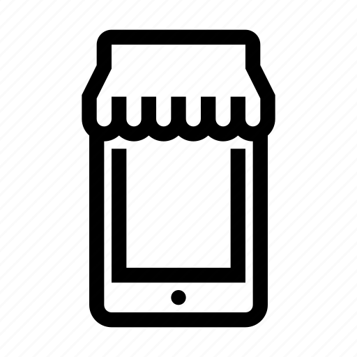 bag, ecommerce, mobile, shop, shopping, smartphone, store icon