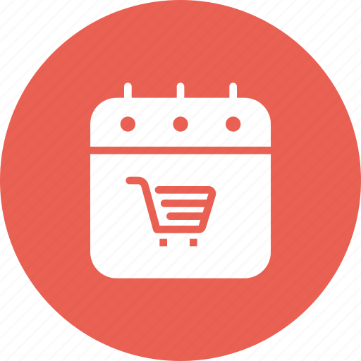 black friday, calendar, cart, event, purchase, shopping icon