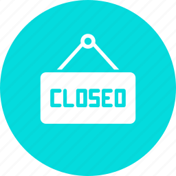 close, closed, hang, hanger, shop, shopping, sign icon