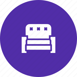 couch, furniture, rest, seat, sit, sofa icon