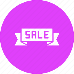 banner, product, ribbon, sale, shop, shopping icon