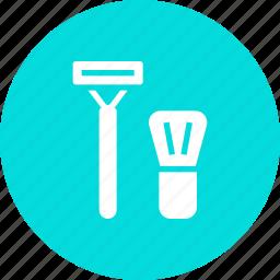 foam, groom, men, razor, set, shave, shaving icon