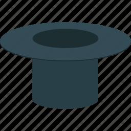 hat, magic top hat, magician, magician hat icon