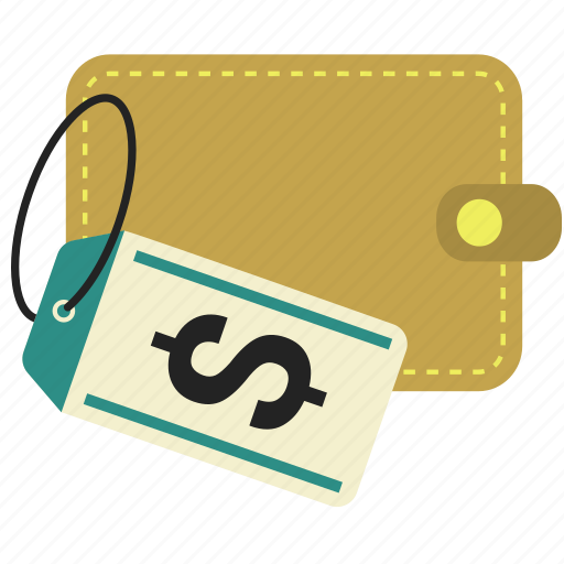 business, discount, finance, label, money, tag, wallet icon