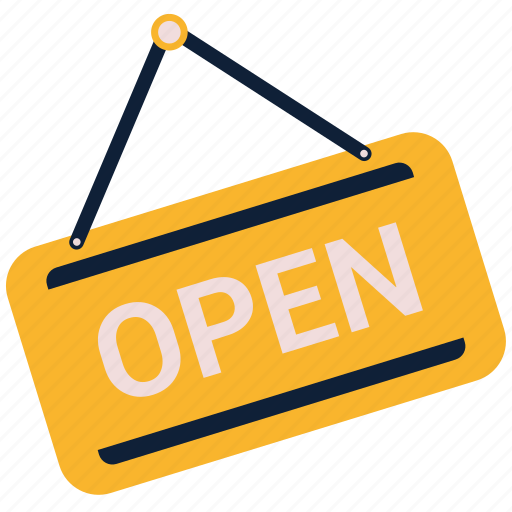 Open shop, open sign, open store icon - Download on Iconfinder