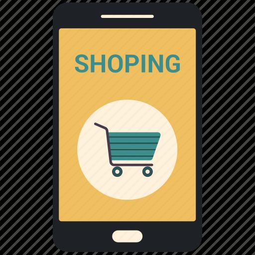 ecommerce, mobile shopping, online shopping icon