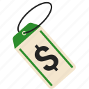 dollar, price, retail, tag icon