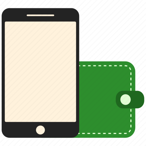 business, finance, mobile, money, phone, wallet icon