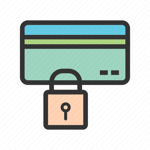 card, credit, lock, payment, secure, security, system icon