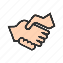 business, businessman, handshake, people, shop, success icon