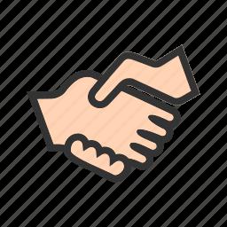 business, businessman, handshake, people, shop, success icon